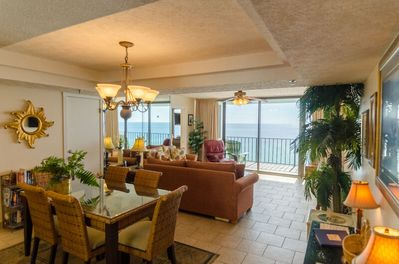 Welcome to Neptune's Reef, Watercrest 1004 in Panama City Beach, FL  You are not going to believe this view from your private balcony!  This is a great place for watching the beach and enjoying outdoor dining.