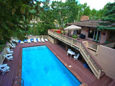 Photo for Walk to Slopes, 5 Bedrooms, Outdoor Pool & Hot Tub