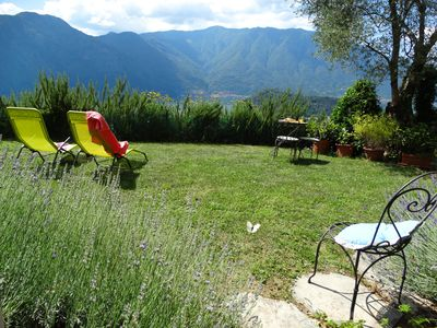 Photo for Lovely renovated barn, stunning lake views, olive grove, breeze +peace of mind