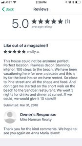 We changed to a different property manger but were able to capture this review.