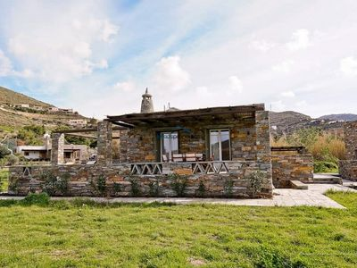 """Photo for The """"Olive Tree""""  stone house 50 meters from the beach of Otzia."""