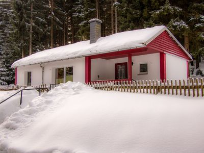 Photo for Waldhaus - idyllic, quiet and wintery! In the middle of the woods!
