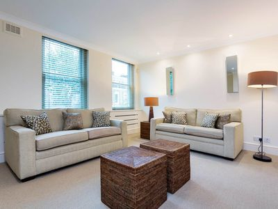Photo for A sleek 3 bed apt in prime location only 2 minutes from the tube station (Veeve)