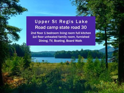 Photo for Cozy Lakeside Cottage - 1 Bedroom - Upper St. Regis  Lake - Near Lake Placid