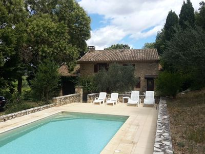 Photo for Provencal farmhouse with private pool