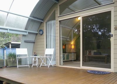 Main, front, deck outside living room