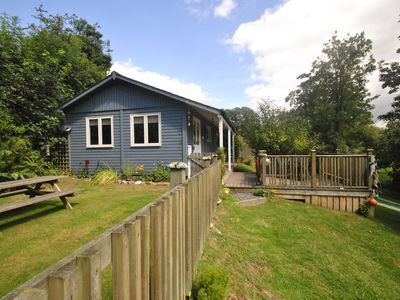 Photo for 'Beach House' style cabin in secluded valley 1 mile from Bantham beach