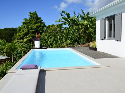 Photo for 3 BEDROOMS COCO CANNELLE VILLA, PRIVATE POOL IN  DESHAIES, NEXT TO BEACHES