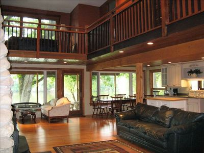 Great water views - the feel of a cabin with all the modern conveniences