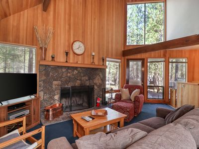 Photo for Wonderful lodge in the woods w/ WiFi, shared pool & hot tub