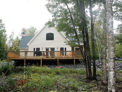 Photo for Beautiful lakefront home, great kayaking, Close to Acadia National Park