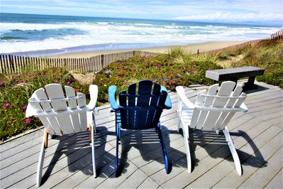 You may never get out of your Adirondack chair!  See any whales?