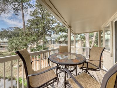 Photo for Dog-friendly villa w/ access to a shared pool & hot tub - walk to the beach!