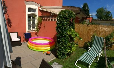 Photo for Free for Comics!Lucca Villino Franca in town A/C,private garden, parking, WiFi