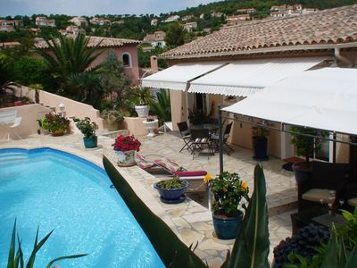 Photo for Villa with private pool air conditioning 800 m from the sea