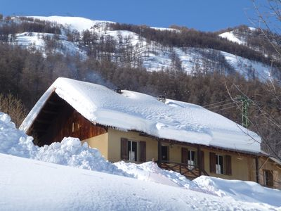 Photo for Chalet summer-winter on the slopes of La Foux d'Allos, Mercantour view
