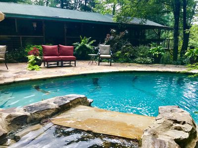 Photo for Private Mountain Cabin With Swimming Pool! Pet Friendly!
