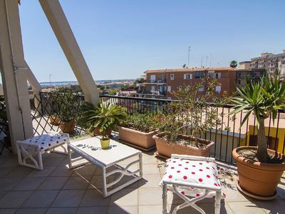 Photo for A casa di Lia - Penthouse with sea-view