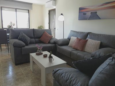 Photo for Bright spacious apartment near the beach with garage