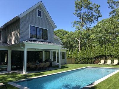 Photo for Sag Harbor Village-Brand New Home-Walk to All-heated gunite pool.