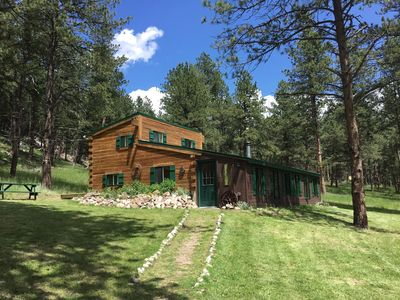 Photo for Unplug and Recharge -Private Black Hills Log Cabin Retreat