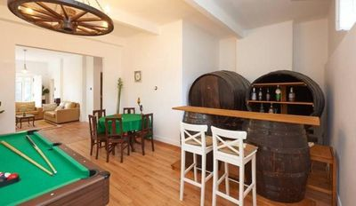 Games room and wine cellar / bar