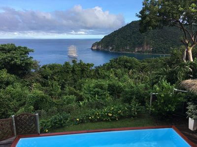 Photo for Luxury villa with exceptional views of Deshaies Bay
