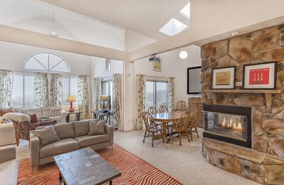 Spacious and Beautiful Open Floor Living Area w/Central 3-Sided Gas Fireplace