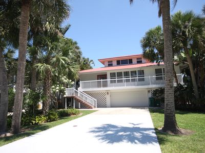 Photo for Spacious Private 4 Bedroom Waterfront Pool Home - Walk to Beach!