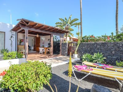 """Photo for Holiday Home """"Bungalow Playa Bastián"""" with Wi-Fi, Garden, Terrace & Pool"""