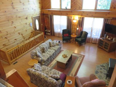 Photo for Remote Cabin on 34 Acres, WiFi, Hiking, sleeps up to 13 people, Pet Friendly
