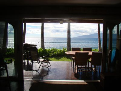 Watch the surfers while you relax on lanai & the whales swim by in the winter.