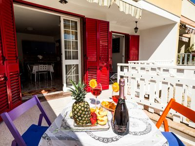 Photo for Holiday apartment with terrace - Villetta 83