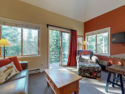 Photo for NEW LISTING! Ski-in/out condo on the 4 O'Clock run with shared hot tub & sauna