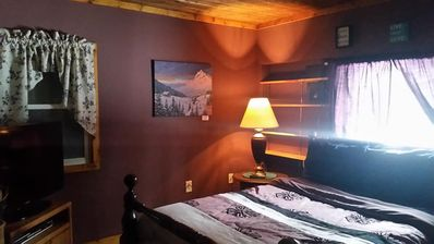 Private Queen Bedroom for you to sink into this comfy bed with soothing ambience