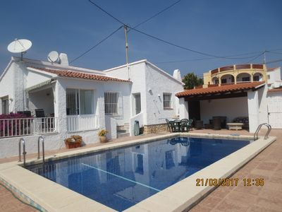 Photo for 7 bedroom villa ideal for two families  150m from beach