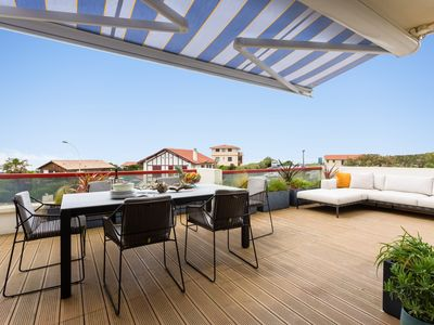 Photo for YOUCCA // VISTA apartment with terrace and sea views in Biarritz
