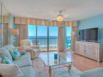 Photo for Ashworth #802, 3 BR Ocean Front Condo with Indoor Outdoor Swimming Pool, Hot Tub, Lazy River and Kiddie Pool