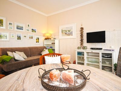 Photo for Free 2-room non-smoking apartment with salt fireplace and four 2.2m beds