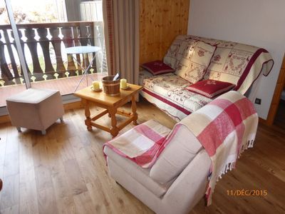 Photo for Charming apartment (2-4p) to the slopes and 2 minutes walk from the city center