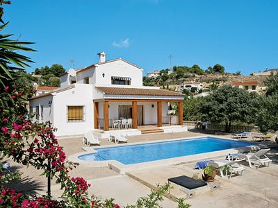Photo for 2 storey home with sea views + Roman-style pool, short drive to beach