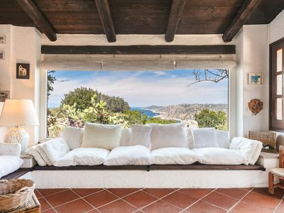 Photo for Villa with Fantastic Sea View, Large Terrace and Garden