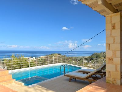 Photo for A beautiful, modern villa with private pool and panoramic view over the sea