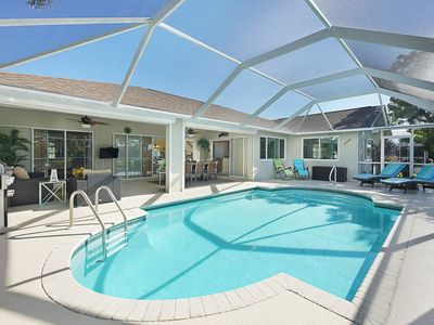 Photo for SWFL Rentals - Villa Christina - Quiet Pool Home on Gulf Access Canal