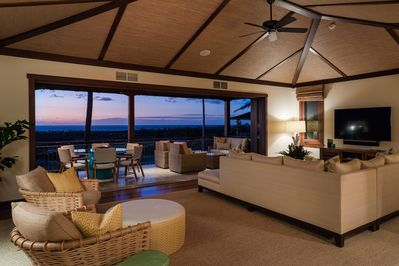 Spectacular sunsets year round from your private ocean view lanai and living area.
