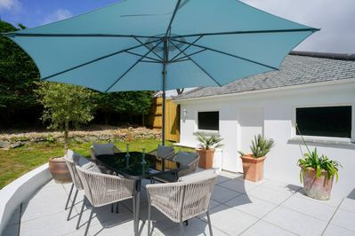 The  inviting and sunny terrace