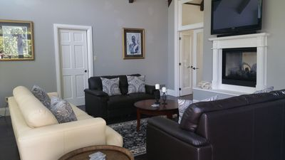Great Room - Netflix and fireplace