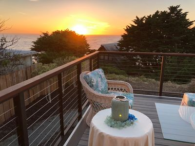 Photo for New Home w Expansive Ocean and Sunset Views, Steps to the Private Beach