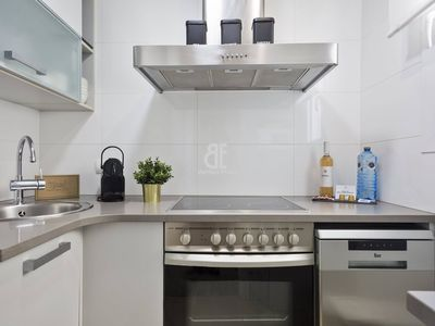 Photo for Be Apartment - Elegant and bright penthouse on the seafront with spectacular terrace overlooking the sea. 2 bedrooms and 1 bathroom. Located in the center of Sitges and a few meters from the beach.