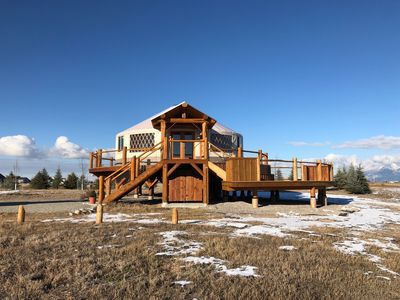 Photo for Luxury Yurt Bordering on Flathead Lake
